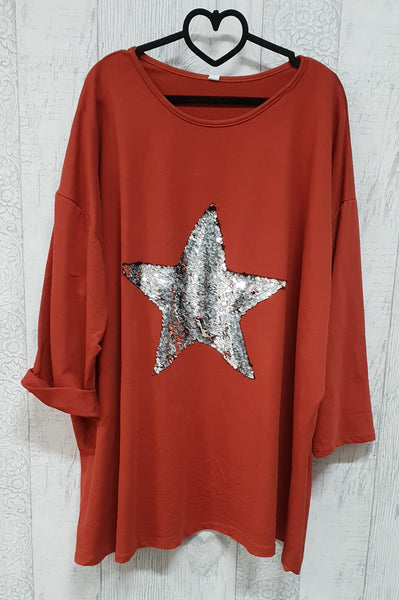 Sequin Star Oversized Jersey