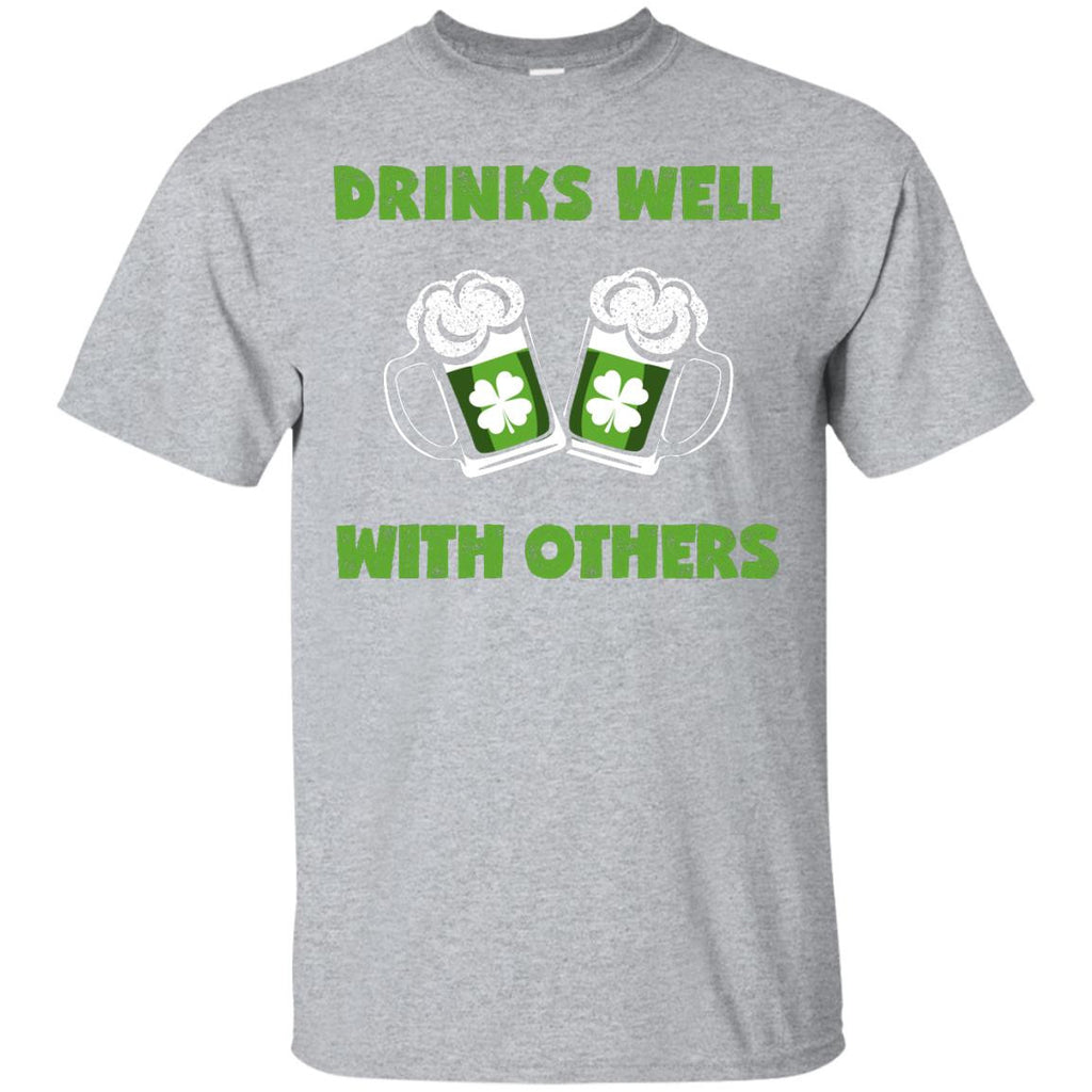 Drinks Well With Others T-Shirt Apparel - The Beer Lodge
