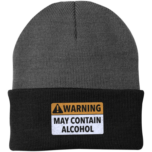 May Contain Alcohol One Size Fits Most Knit Cap Hats - The Beer Lodge