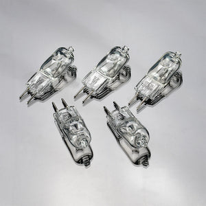 Set of 5 Replacement Modeling Bulbs - 5x JCD Type 60w 120v GY6.35 (2-Pin Base) Clear Halogen Light Bulbs