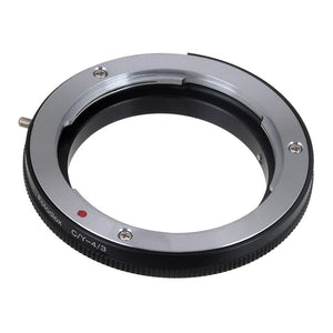 Fotodiox Lens Mount Adapter - Contax/Yashica (CY) SLR Lens to Olympus 4/3 (OM4/3 or 4/3) Mount Mirrorless Camera Body