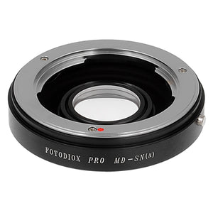 Fotodiox Pro Lens Mount Adapter - Minolta Rokkor (SR / MD / MC) SLR Lens to Sony Alpha A-Mount (and Minolta AF) Mount SLR Camera Body