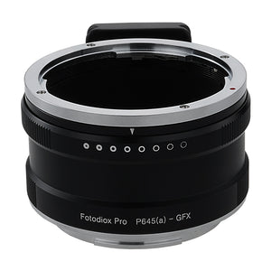 Fotodiox Pro Lens Mount Adapter, Pentax 645 (P645) Mount FA & DFA Auto Focus Lenses to G-Mount GFX Mirrorless Digital Camera Systems (such as GFX 50S and more)