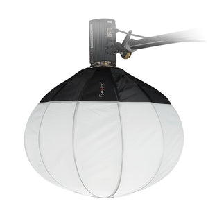 Fotodiox Lantern Softbox with Profoto Speedring for Profoto and Compatible - Collapsible Globe Softbox with Partial Silver Reflective Interior and Soft Diffusion Panels