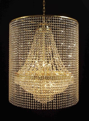 Empire Crystal Chandelier Empress Crystal (Tm) Lighting With Crystal Shade - F93-Gold/C2/870/9