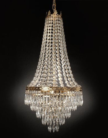 "French Empire Crystal Chandelier Lighting Empress Crystal (Tm) H30"" X W17"" - Go-J10-26026/4"