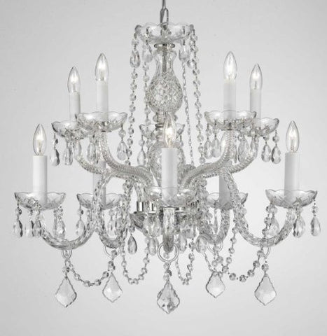 "Chandelier Lighting Crystal Chandeliers H25"" X W24"" 10 Lights - A46-CS/1122/5+5"