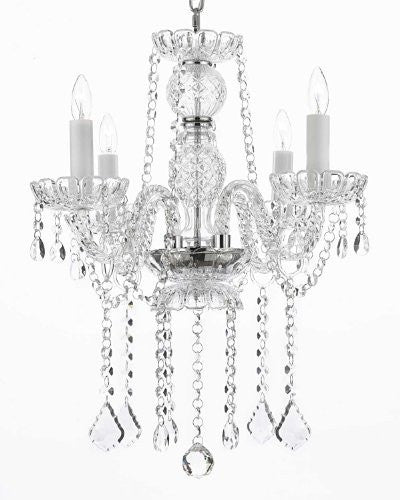 "Authentic All Crystal Chandeliers Lighting Chandeliers H 21"" X W 17"" - G46-B14/275/4"