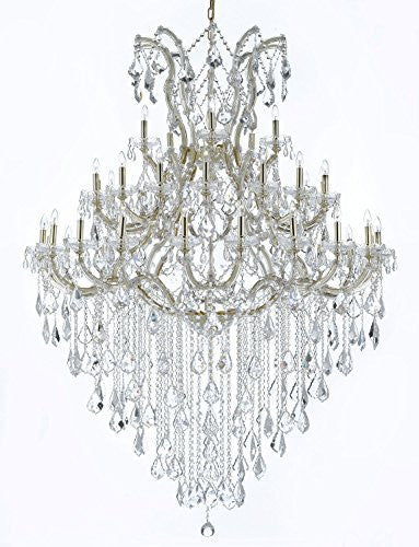 "Maria Theresa Crystal Chandelier Lighting H 72"" W 52"" Trimmed With Spectra (Tm) Crystal - Reliable Crystal Quality By Swarovski - Cjd-Cg/B12/2181/52Sw"