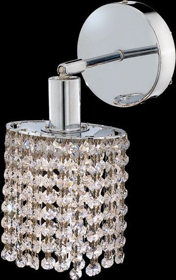 C121-1281W-R-R-CL/RC By Elegant Lighting Mini Collection 1 Lights Wall Sconce Chrome Finish