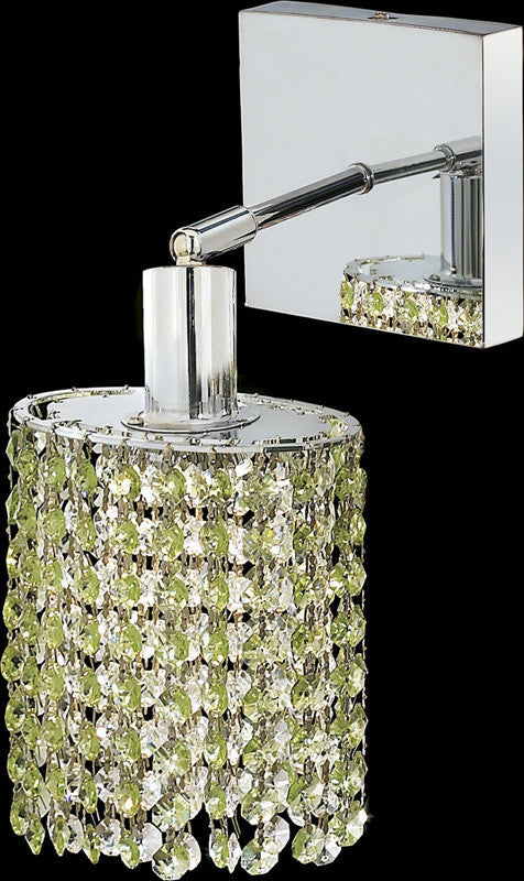 C121-1281W-S-E-LP/RC By Elegant Lighting Mini Collection 1 Lights Wall Sconce Chrome Finish