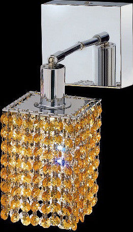 C121-1281W-S-S-LT/RC By Elegant Lighting Mini Collection 1 Lights Wall Sconce Chrome Finish