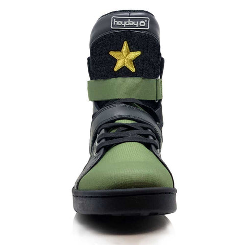 Image of #MyHeyday Olive/Black Super Shift Bodybuilding High Top Sneakers