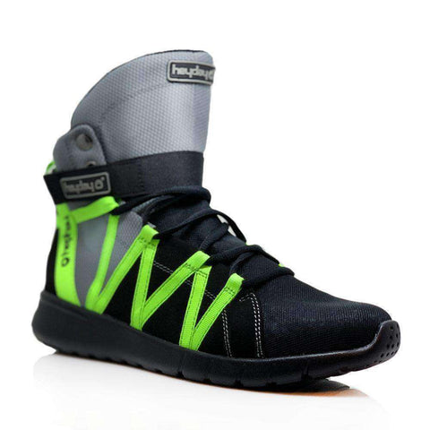 Image of Heyday Footwear Sneakers Grey/Black/Volt Super Freak 2.0 High Top Sneakers for Bodybuilding