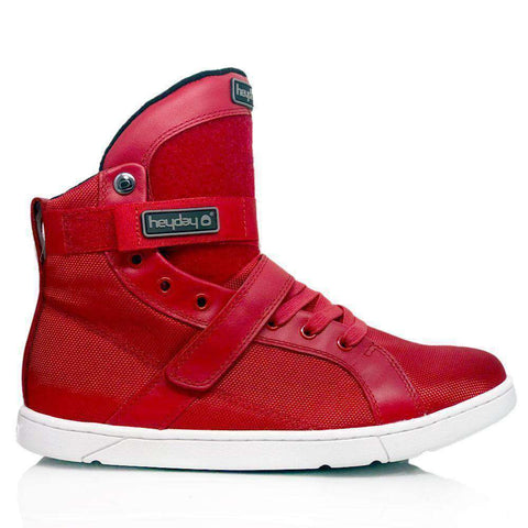 Image of Heyday Footwear Sneakers Mens 5/Womens 6.5 / Red #MyHeyday Red Super Shift Bodybuilding High Top Sneakers