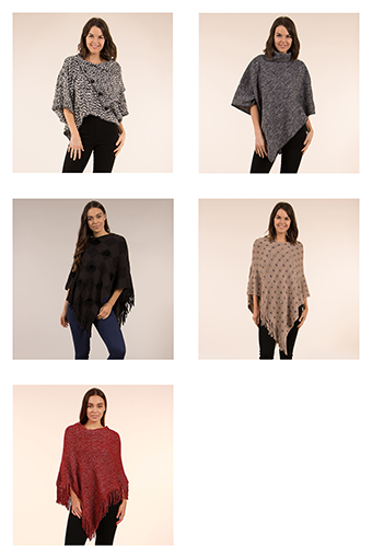 Winter Warmers Ponchos - 5 Femme Ponchos | Femme Connection