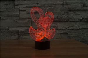 Love Swan 3D Illusion Lamp - Lampeez