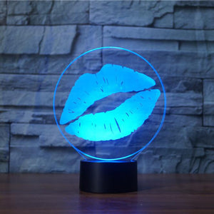 Kiss 3D Illusion Lamp - Lampeez