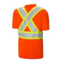"Short Sleeve Traffic T-Shirt - 4"" Contrasting Colour Tape with  2"" Reflective Silver Tape"