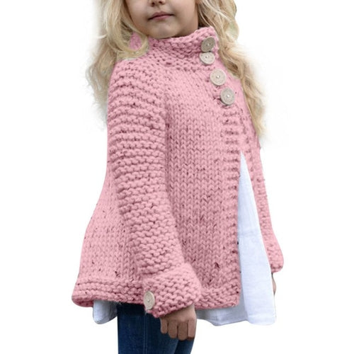 Kids Button Knitted Sweater Cardigan Coat - Zacca store