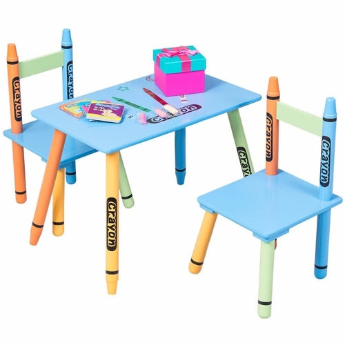 Crayon Kids Table & Chairs Set - Zacca store