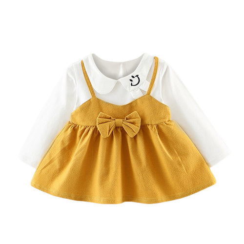 Long Sleeve Blouse And Bowknot Baby Dress - Zacca store