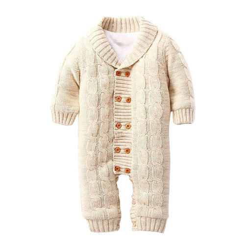 Newborns Baby Button Rompers wool Knitted - Zacca store