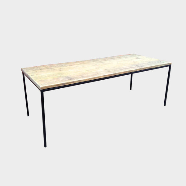 Ultra Slim Dining Table - Industrial - Wood - Reclaimed