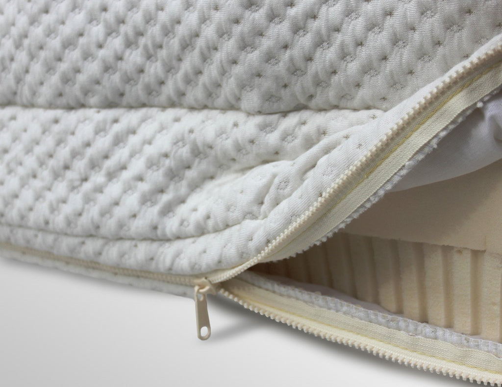SleepLikeABear Natural Wool Quilted Knit Bamboo Zipper Cover