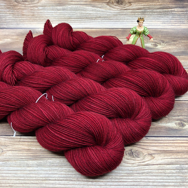 Legend in Poisoned Apple - Round Table Yarns hand-dyed yarn tonal semi-solid self-striping