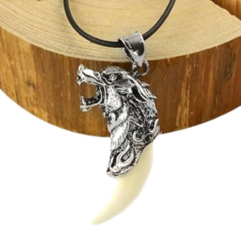 Badass Wolves Teeth Charm Necklaces-