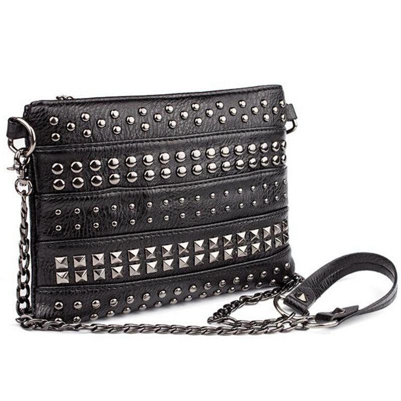 Cute Zipper Alternative Spike Handbag-