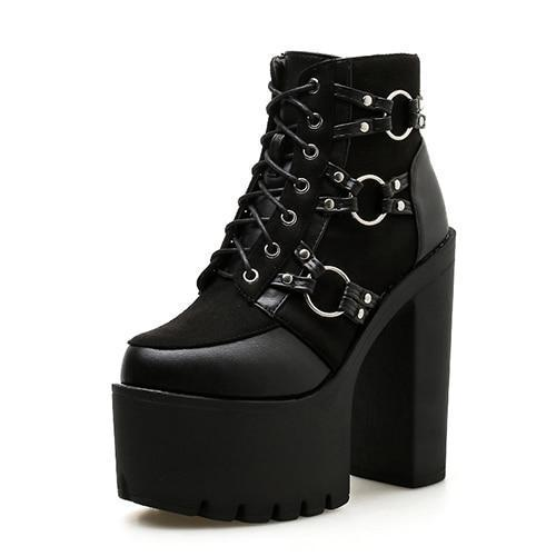 Sexy Lace-Up Ankle Boot