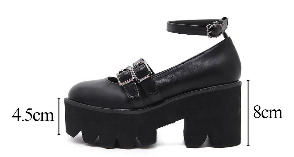 Black Chunky Gothic Sandals