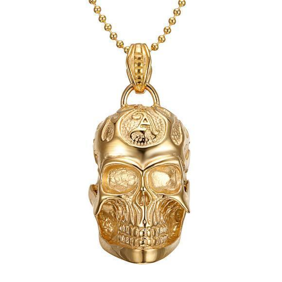 Unisex Skeleton Head Alternative Necklaces-
