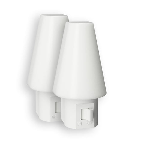 Tipi LED Manual Frosted Night Light - 2 Pack