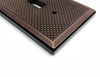 Pyramid Oil Rubbed Bronze Cast Metal  - 2 Rocker Wallplate
