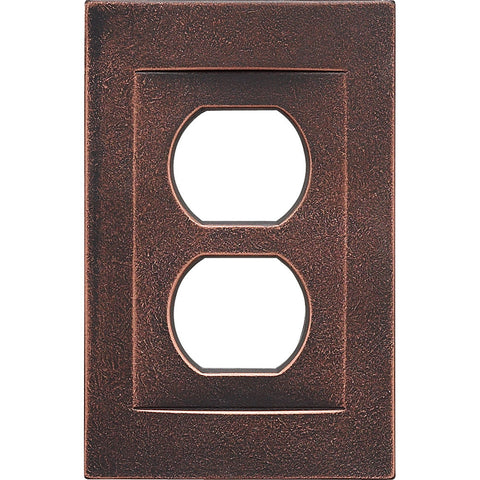 Oil Rubbed Bronze Cast Metal Magnetic - 1 Duplex Wallplate