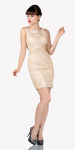 Cinderella Divine 1900 - Vintage Cream Lace Dress Short Sleeveless Wide Straps Modest
