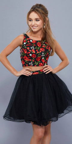 Poly USA T12 - Stunning Off The shoulder Lace Crop Top Black