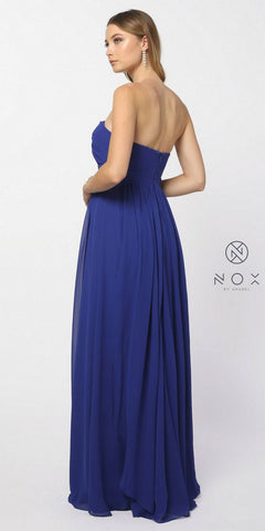 Floor Length Convertible Bridesmaids Dress Chiffon Royal Blue (Over 10+ Styles)