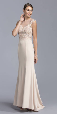 Tiered Halter Long Prom Dress Embellished Waist White