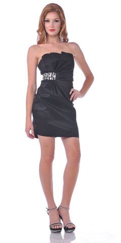 CLEARANCE - Short Little Black Dress Cocktail Club Party Strapless Crumbcatcher