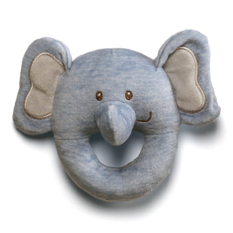 "Playful Pals Elephant Soft Ring Rattle - 4.5"" - Baby Gund"