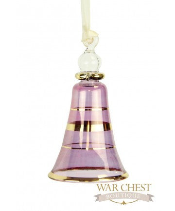 Small Bell Ornament Purple - Ornaments - WAR Chest Boutique