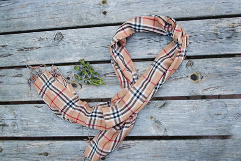 Chatsworth Plaid Fringe Scarf