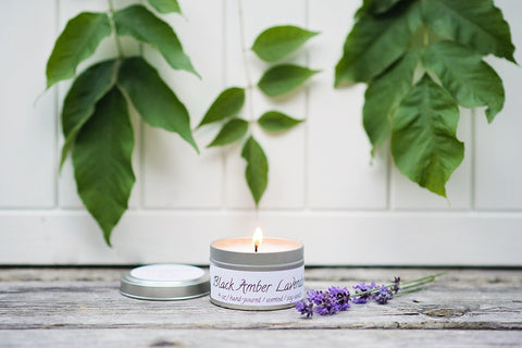 Amber & Lavender Spa Candle