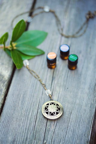 Brass Diffuser Necklace