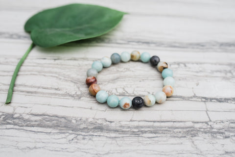 Amazonite Bracelet for Women - Jewelry - WAR Chest Boutique