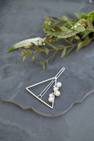 Silver Triangle Hair Clip